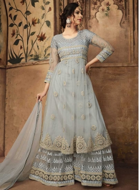 Net Designer Palazzo Salwar Kameez For Ceremonial