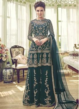 Net Designer Palazzo Salwar Kameez For Ceremonial
