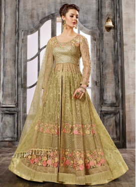 Net Embroidered Work Designer Kameez Style Lehenga
