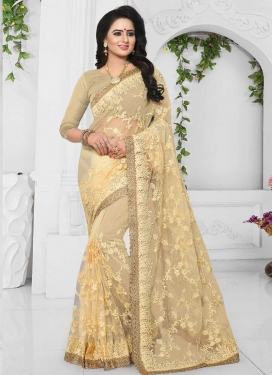Net Embroidered Work Designer Traditional Saree