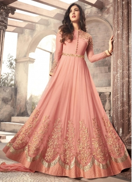 Net Embroidered Work Long Length Salwar Kameez