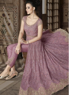 Net Embroidered Work Pant Style Designer Salwar Suit