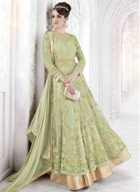 Net Embroidered Work Salwar Kameez