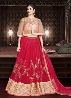 Net Embroidered Work Trendy Designer Lehenga Choli