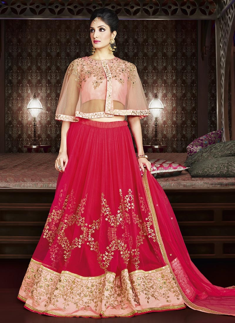 2fb2de84d8 Buy Net Embroidered Work Trendy Designer Lehenga Choli Online