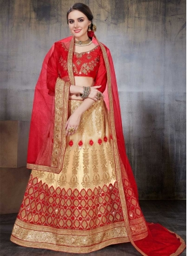 Net Embroidered Work Trendy Lehenga Choli