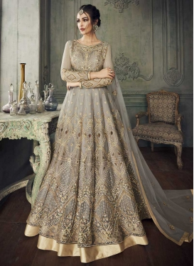 Net Floor Length Anarkali Salwar Suit For Ceremonial