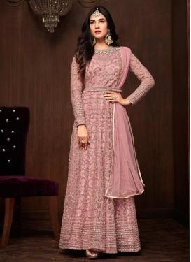 Net Floor Length Anarkali Salwar Suit For Festival