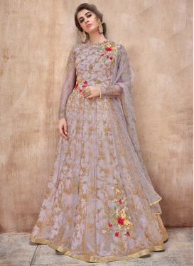 Net Floor Length Anarkali Salwar Suit For Festival