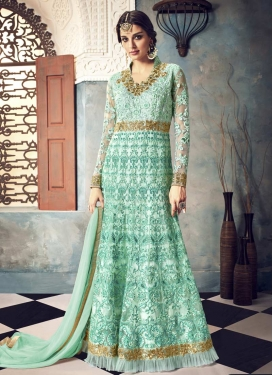 Net Floor Length Anarkali Salwar Suit For Party