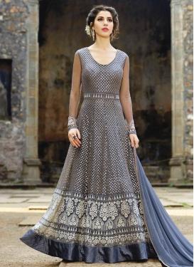 Net Floor Length Designer Salwar Suit For Ceremonial