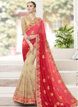 Net Half N Half Designer Saree For Party