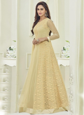 Net Krystle Dsouza Floor Length Anarkali Salwar Suit For Festival