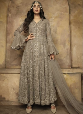 Net Long Length Designer Suit For Ceremonial