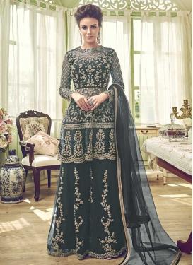 Net Palazzo Designer Salwar Kameez