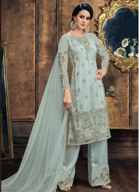 Net Palazzo Straight Salwar Suit