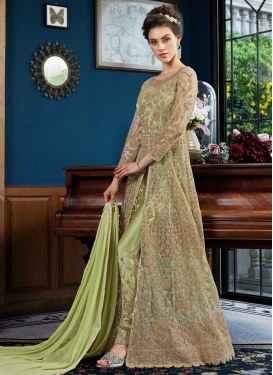 Net Pant Style Classic Salwar Suit For Party