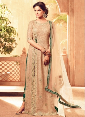 Net Pant Style Designer Suit For Ceremonial