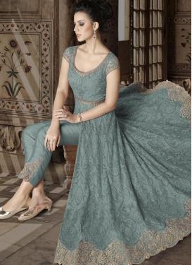 Net Pant Style Salwar Suit