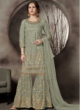 Net Sharara Salwar Suit