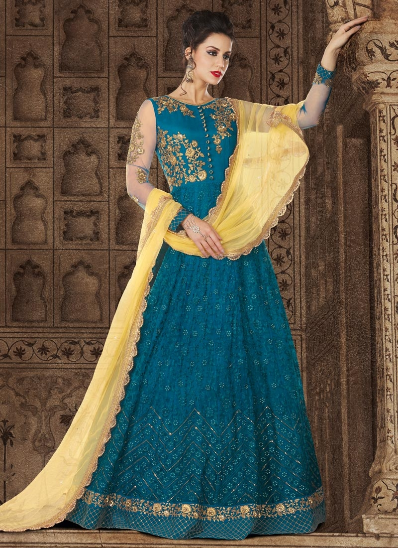 Net Trendy Anarkali Salwar Kameez For Festival