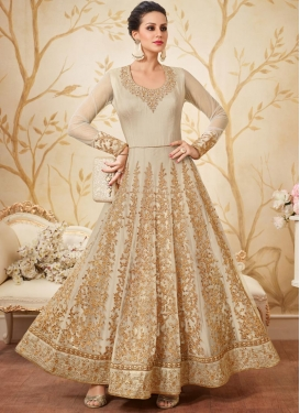Net  Trendy Anarkali Salwar Suit For Festival
