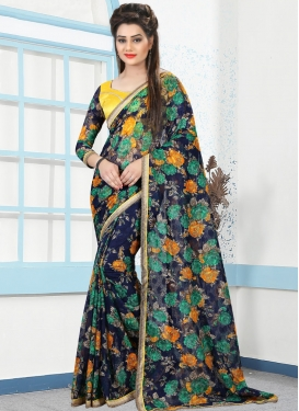 Net Trendy Saree For Casual
