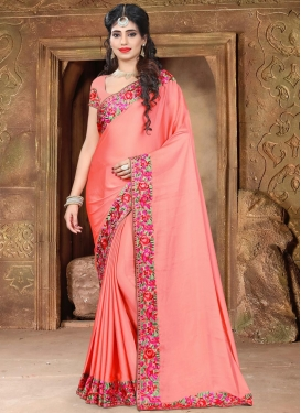 Nice Aari Work Contemporary Saree