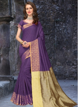 Nice Banarasi Silk Contemporary Style Saree For Casual