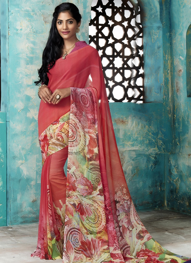 Nice Digital Print Work Casual Saree