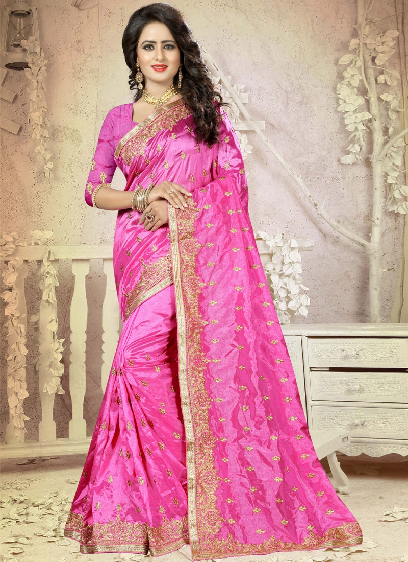 Buy nice embroidered work contemporary style saree online