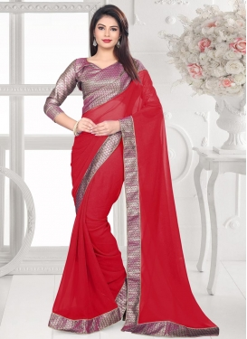 Nice Faux Georgette Trendy Classic Saree