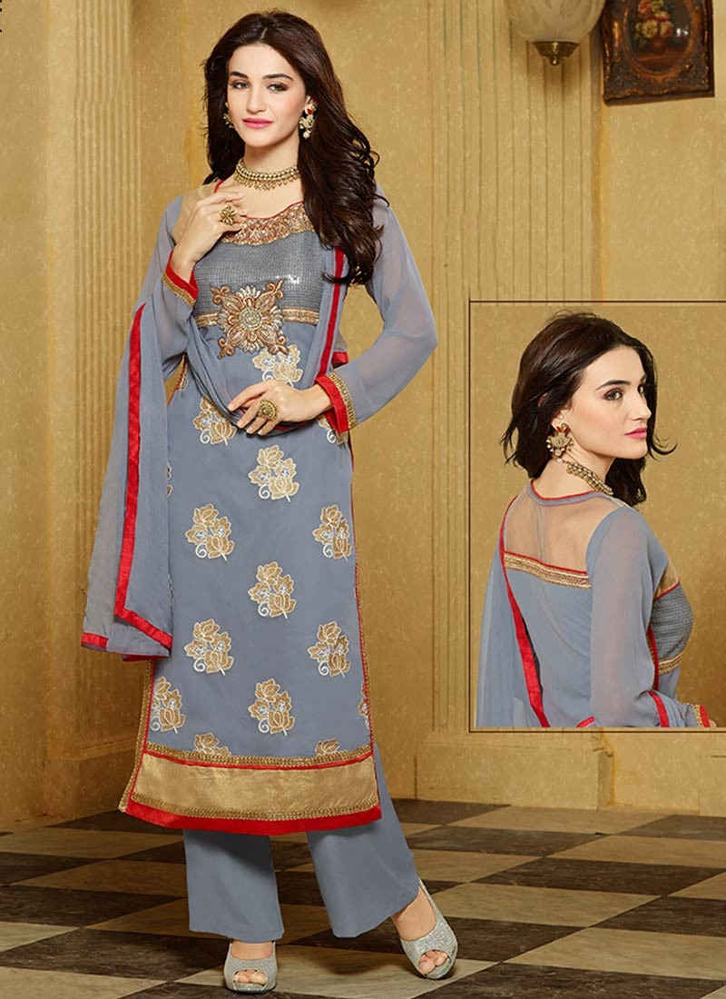 Noble Booti Work Palazzo Style Party Wear Suit