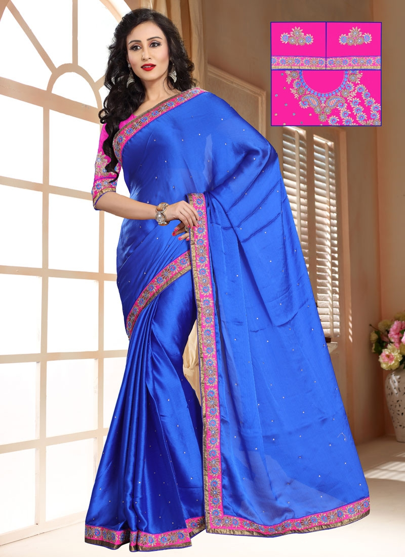 Noble Chiffon Stain Stone Work Casual Saree