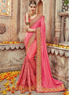 Noble Satin Silk Designer Contemporary Style Saree For Ceremonial