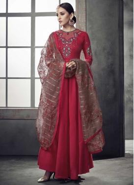 Nylon Readymade Long Length Gown