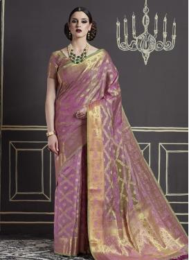 Nylon Silk Classic Saree For Ceremonial