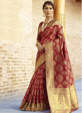 Nylon Silk Classic Saree For Ceremonial