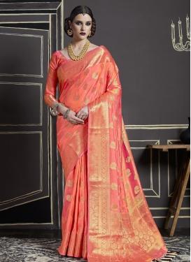 Nylon Silk Contemporary Saree
