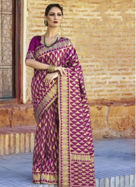 Nylon Silk Contemporary Style Saree