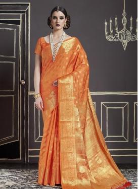 Nylon Silk Contemporary Style Saree For Ceremonial
