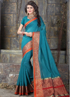 Nylon Silk Thread Work Traditional Saree
