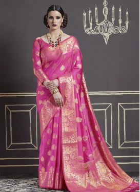 Nylon Silk Trendy Classic Saree