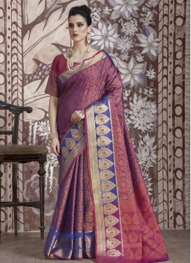 Nylon Silk Trendy Classic Saree