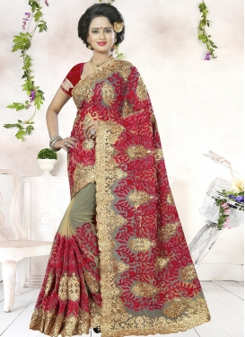 Observable Aari Work Traditional Saree For Party