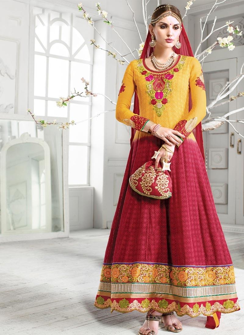 Observable Booti And Patch Work Wedding Salwar Kameez