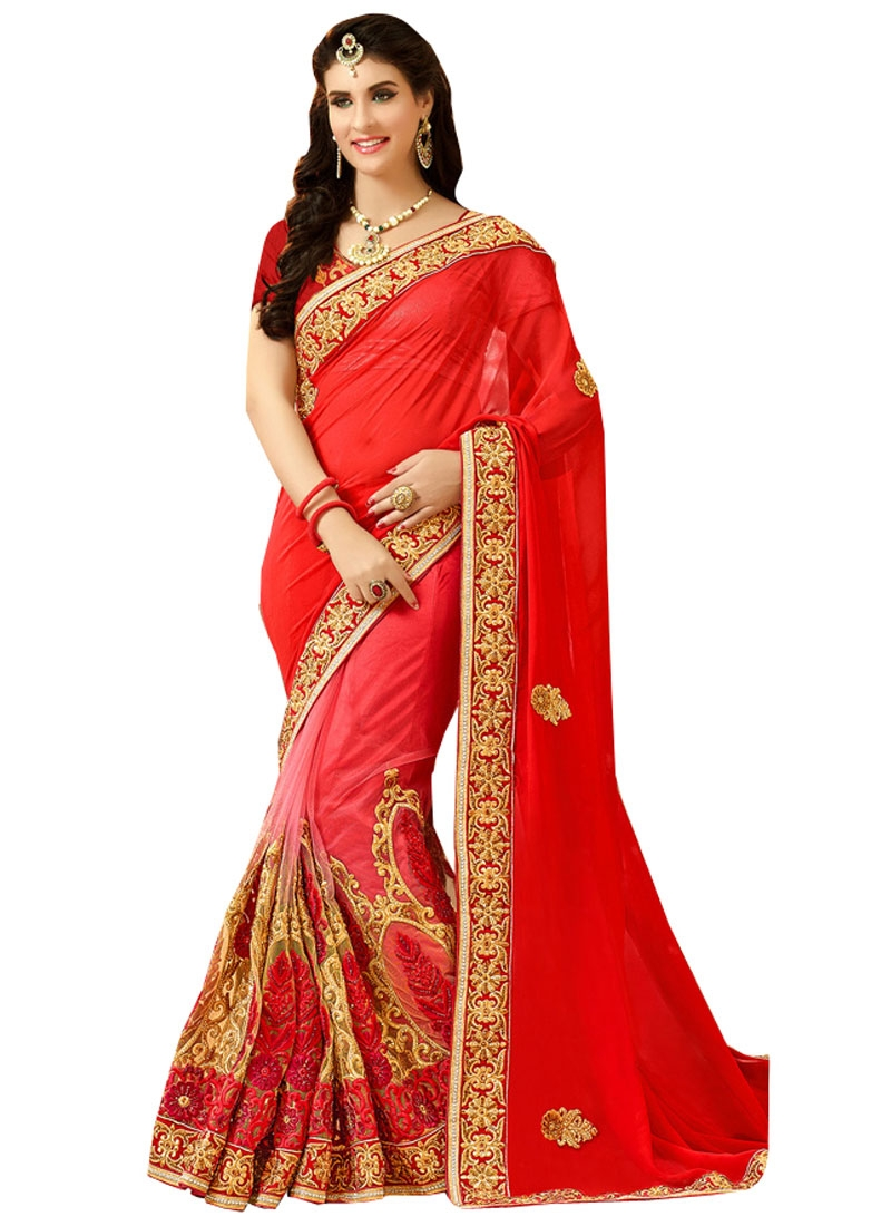 Observable Booti And Stone Work Bridal Saree