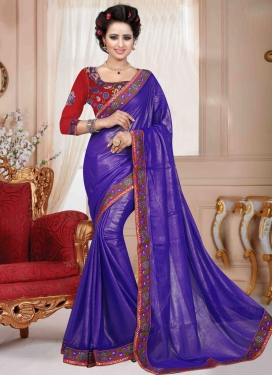 Observable Faux Georgette Resham Work Casual Saree