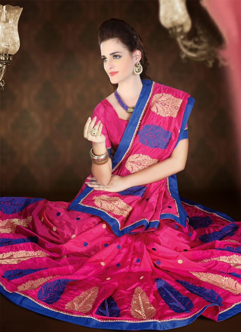 Observable Patch Enhanced Party Wear Saree