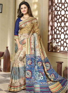 Observable Printed Rashami Desai Casual Saree